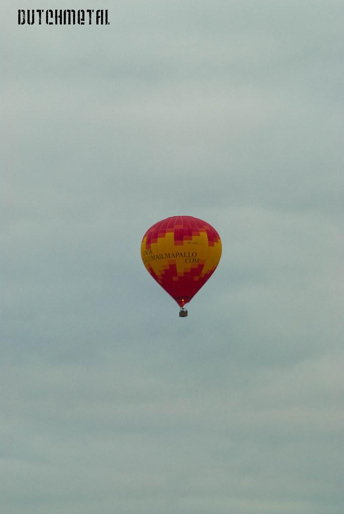 Hot air balloon over Turku Finland