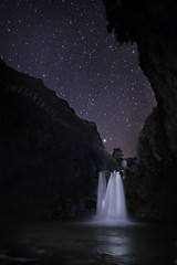 Star Falls (Ben Canales) Tags: sky cliff water rock night oregon river dark stars star waterfall twilight stream ben space canyon falls trail galaxy waterfalls whiteriver universe starry cosmos maupin whiteriverfallsstatepark canales tyghvalley whiteriverfalls Astrometrydotnet:status=failed bencanales wwwthestartrailcom Astrometrydotnet:id=alpha20100961607160
