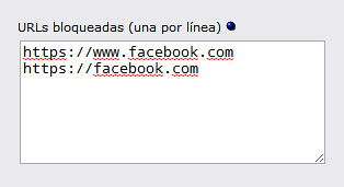 URL's Bloqueadas