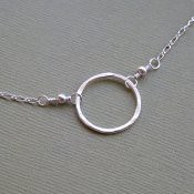 Simple Silver Circle Necklace