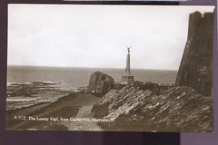 Wales.Card Aberystwyth the Lonely Vigil real photo uk470 (loveinterestingcards) Tags: landscape military topographic socialhistory vintagephotopostcardsunitedkingdomcollectiblepaperitem