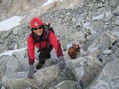 Cypress Peak ascent.. LIsa & Suzanne scrambling to the summit.. (iwona_kellie) Tags: friends summer snow canada rock britishcolumbia anniversary rocky glacier celebration summit scramble cypresspeak roecreek squamishcheakamusdivide 2083meters returnafter4years