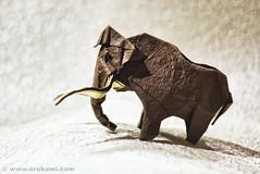 Artur Biernacki Origami Mammoth (Himanshu (Mumbai, India)) Tags: sculpture india snow elephant art ice animal modern paper origami contemporary craft poland polska age mammoth mumbai paperfolding artur folding woolly modele łódź washi epoch rzeźba mamut mammuthus himanshu polskie elephantidae pliocene primigenius sztuka składanie nowoczesna biernacki papieru proboscidean papierowe orukami himanshuagrawal himorigami himanshuorigami
