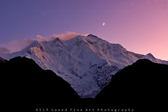 Rakaposhi (7788 m) with Last Light (M Atif Saeed) Tags: pakistan light mountain mountains nature last landscape karakoram kkh areas northern hunza northernareas 7788 atifsaeed gettyimagespakistanq1