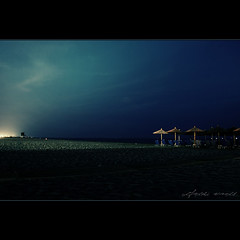 Olympic Beach - Paralia - Greece (zohaaa) Tags: city longexposure trip travel family light sea vacation mer holiday art beach mar seaside nikon meer europe mare aegean zee olympus greece more olympic 1855 dslr griechenland  deniz grce tenger mountolympus hav katerini   morze d90 paralia   segara    sagara olympicbeach  greica