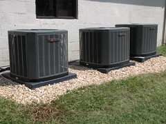 The new units donated by Trane