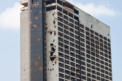old holiday inn, beirut (ion-bogdan dumitrescu) Tags: lebanon hotel war holidayinn beirut remains bombing bitzi mg5900 ibdp gettyvacation2010 ibdpro wwwibdpro ionbogdandumitrescuphotography