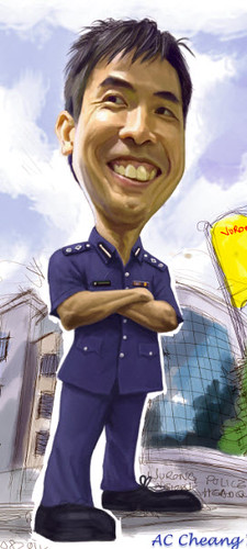 Digital caricature for Singapore Police Force - 4