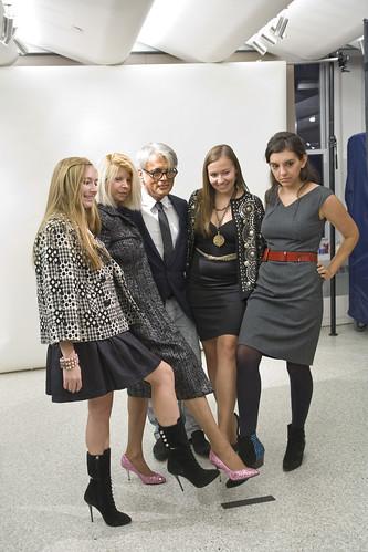 The ladies modeling Giuseppe Zanott's shoes