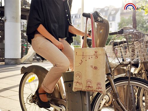 Matryoshka eco-friendly shopping bag