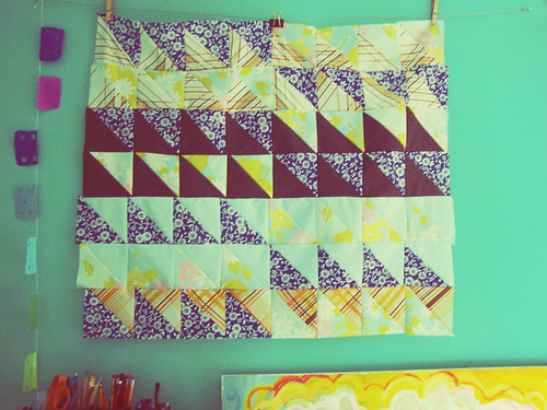 booba krishna quilt: almost finished piecing.