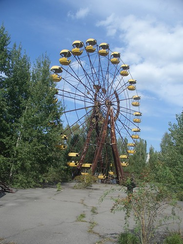 Ferris wheel in the Chernobyl Exclusion Zone. Photo by gpjt on Flickr