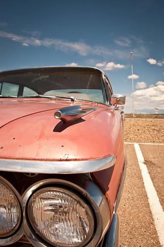 1957 pink Pontiac convertible car ad | eBay