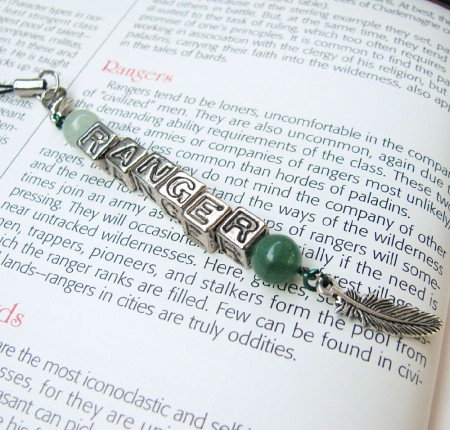 Green and silver ranger cell phone charm keychain