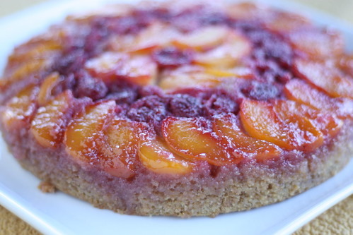 Summery Peach and Raspberry Upside Down Cake (Tuesdays with Dorie)