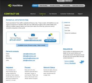 HostNine Contact Information
