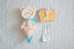 (oso_polar) Tags: bear cookies by toy oso doll handmade ill flu meds