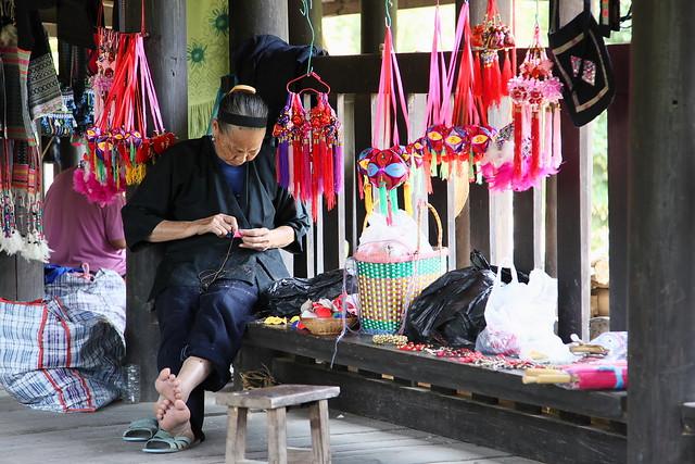 Souvenir shop on the Chengyang bridge, Guangxi, China
