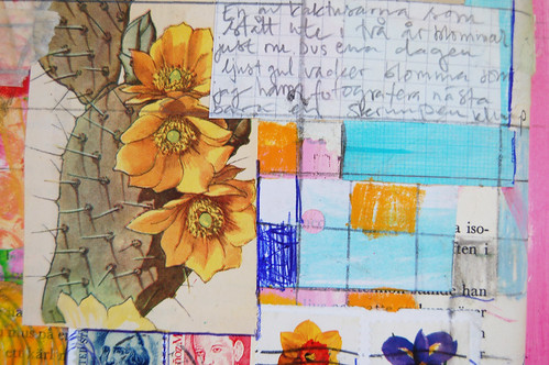 Art Journal Detail: cactus flower