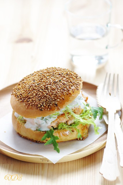 Salmon hamburger