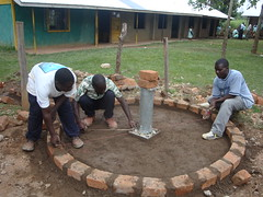 Eburenga pri.school-re-construction of well pad.