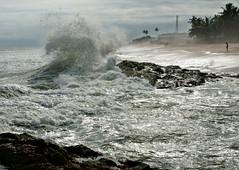 Angry Atlantic (paulinuk99999 - just no time :() Tags: castle wet rock coast surf wave atlantic ghana cape paulinuk99999