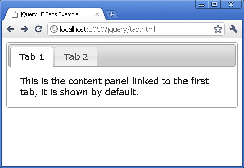 jQuery UI Creating Tabs Widget Tutorial