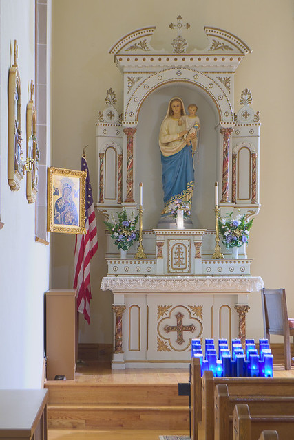 Saint Joseph Roman Catholic Church, in Josephville, Missouri, USA - Mary's altar