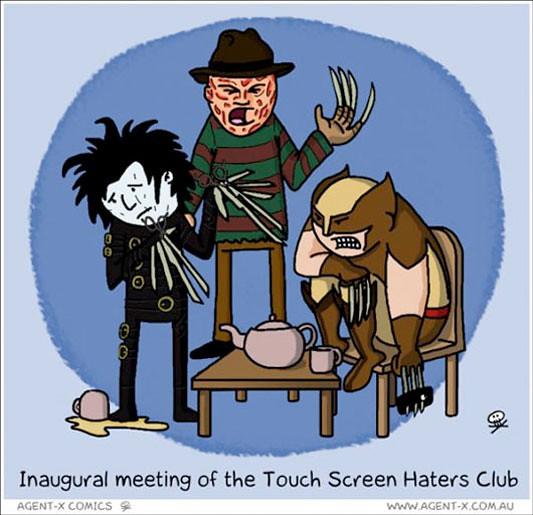 ¡Odiamos las pantallas tactiles!
