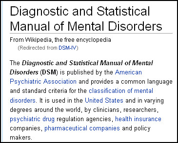 DSM IV in Wikipedia