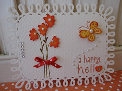 Happy Hello Autumn Flower Embellishment (vsroses.com) Tags: flowers autumn art collage scrapbooking paper cards handmade crafts stamp ribbon heroarts vsroses september2010a