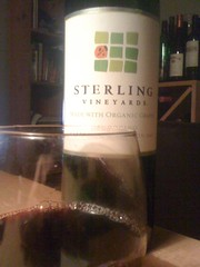2007 Sterling Vineyards Organic Cabernet Sauvignon