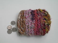 (TUKON by Vered) Tags: crochet purse zipper recycling fabrics sheqel