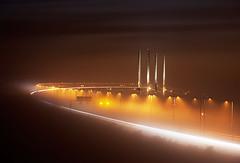 000340 (Werner Nystrand) Tags: lighting bridge sea water night evening energy sweden sverige bro malm vatten natt hav resund resundsbron oresundbridge colorimage kvll belysning energi liggande frgbild
