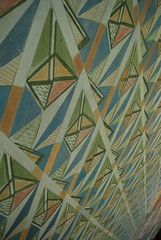 Wall detail (Elaine Christian) Tags: city autumn vacation holiday geometric oslo norway wall design hall paint august september scandinavia radhus elainechristian