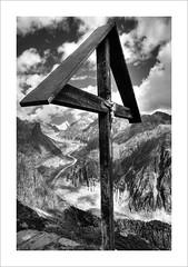Fiescher Glacier @ Valais, Switzerland (Toni_V) Tags: bw mountains alps nature monochrome landscape schweiz switzerland blackwhite nikon suisse hiking unesco glacier alpen wallis valais worldheritage 2010 randonne d300 sigma1020mm 100903 finsteraarhorn photomatix fieschergletscher hdrsingleraw capturenx weltnaturerbe toniv dsc3808 jungfraualetsch flickrtravelaward bettmerhornfiescheralp