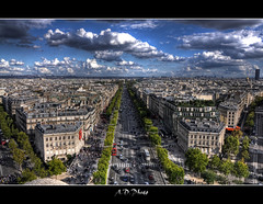 Champs lyses (Alexis.D) Tags: paris france de french place champs elyses arc triomphe letoile capitale hdr