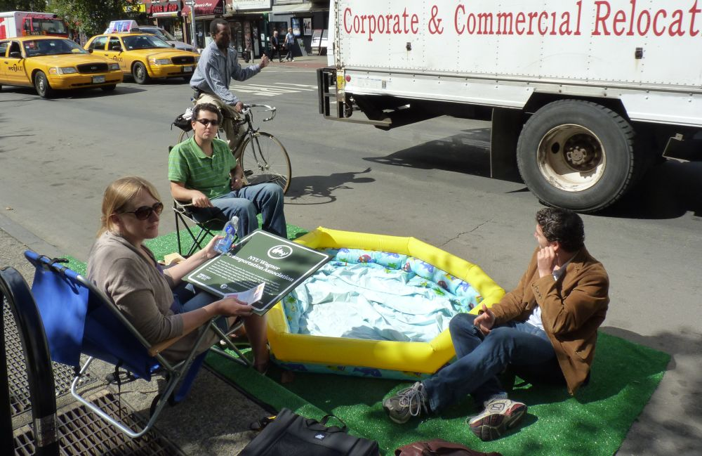 Parking Day on Sixth Ave