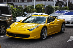 Yellow 458 Italia (Justins Supercars) Tags: red black paris london cars yellow canon fire photography eos automobile dubai italia ferrari monaco exotic arab owned bugatti 3000 lamborghini luxury supercar gumball matte koenigsegg qatar pagani carspotting 458 450d
