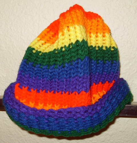 rainbow beanie medium stripes 2