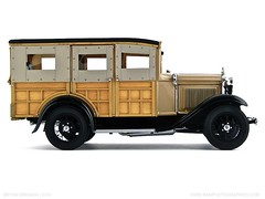 Ford 1931 Model A Station Wagon in Manila Brown