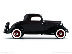 Ford 1933 Model 40 Deluxe V8 Coupe in Coach Maroon
