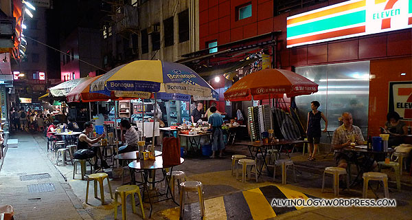 Da Pai Dang (大排檔) or street food vendors in Hong Kong