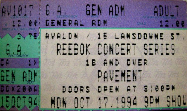 Pavement 94 tix