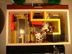 013lower floor (Johan_vd_Heuvel (Teddy)) Tags: city car station lego police modular cop