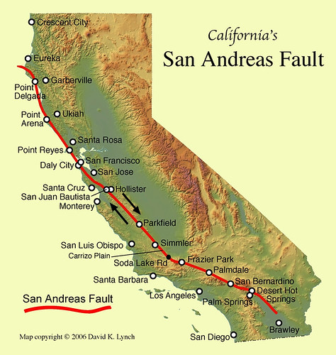 san-andreas-fault-map by trudeau
