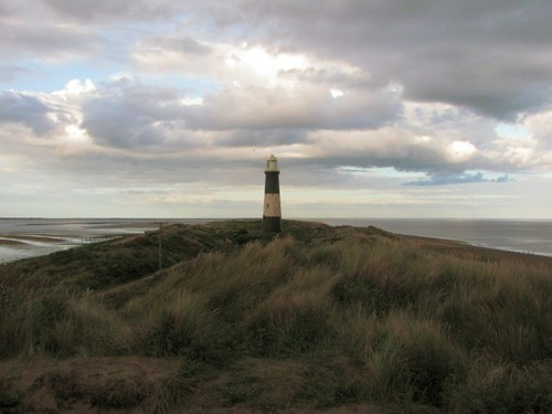 Old lighthouse and sand bank of Spurn Point