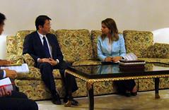 アリー内閣担当国務大臣(外務大臣臨時代理)と会談