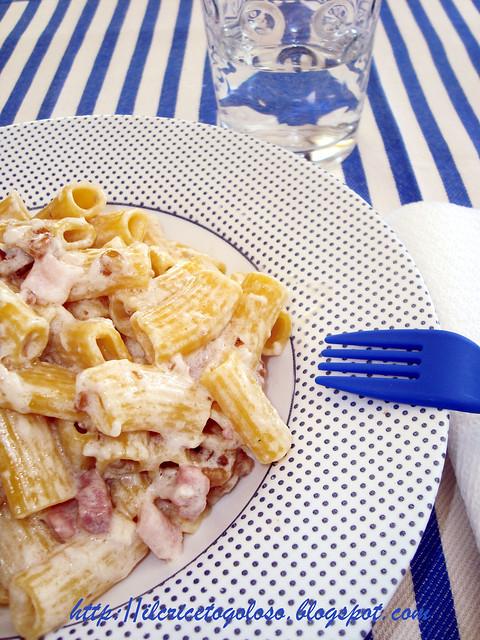 Maccheroncini con philadelphia noci e bacon (1)