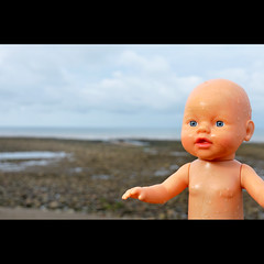 Feaky Flotsam #1 (Dave-Mann) Tags: uk sea beach toy seaside doll blueeyes lakedistrict freaky cumbria flotsam stbees 18200mm nikond300s